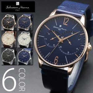 マルチファンクション 腕時計 メンズ  全6色 正規 Salvatore Marra サルバトーレ マーラ マルチカレンダー搭載 クラシカルフェイス 腕時計 BOX 保証書付 0322|synergyselect