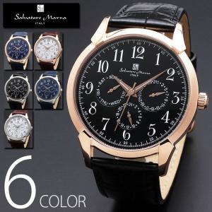 3気圧防水 マルチファンクション 腕時計 メンズ 1年保証 全6色 正規 Salvatore Marra サルバトーレ マーラ マルチカレンダー 腕時計 BOX 保証書付 0522|synergyselect