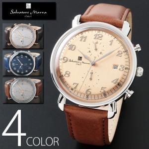 3気圧防水 クロノグラフ 腕時計 メンズ 1年保証 全4色 正規 Salvatore Marra サルバトーレ マーラ クロノグラフ 腕時計 BOX 保証書付 0522|synergyselect