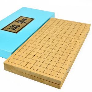 ■囲碁盤の材質:木製 新桂材(アガチス材) ■囲碁盤のサイズ  天面横幅 約42cm × 天面奥行 ...