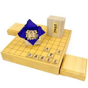 将棋セット 新かや2寸一枚板卓上将棋盤セット(木製将棋駒黄楊...