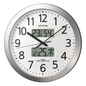 10倍ポイント/あすつく/リズム電波掛け時計プログラムカレンダー404SR4FN404SR19|syohbido-store