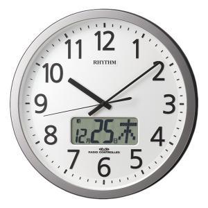 10倍ポイント/あすつく/リズム電波掛け時計プログラムカレンダー405SR4FN405SR19|syohbido-store
