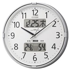 10倍ポイント/あすつく/シチズン環境目安表示機能付電波掛け時計インフォームナビF4fy618019|syohbido-store