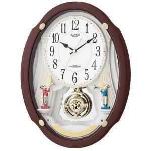 10倍ポイント/シチズン電波からくり掛け時計スモールワールドドリーム4mn505rh06|syohbido-store