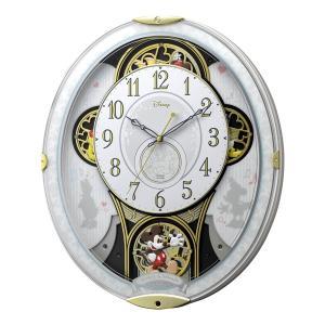 10倍ポイント/リズムディズニーキャラクター電波からくり掛け時計ミッキー&フレンズM5094MN509MC03|syohbido-store