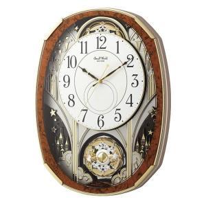 10倍ポイント/シチズン電波からくり掛け時計スモールワールドノエルM4MN513RH23木目仕上|syohbido-store