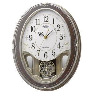 10倍ポイント/CITIZENシチズン電波壁掛け時計スモールワールドハイム【4MN520RH23】|syohbido-store