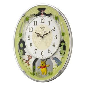 10倍ポイント/リズムディズニーキャラクター電波アミュージング掛け時計くまのプーさんM5234MN523MC03|syohbido-store