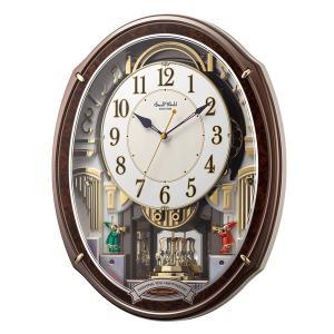 10倍ポイント/RHYTHM リズム SmallWorld 電波からくり掛け時計 スモールワールドアルディ【4MN545RH23】|syohbido-store