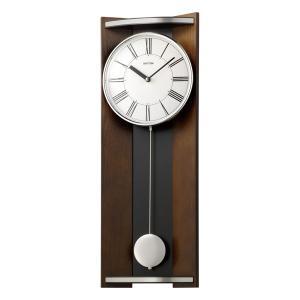 10倍ポイント/リズム木製掛け時計モダンライフM054MPA05RH06茶色|syohbido-store