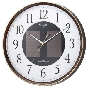 10倍ポイント/CITIZENシチズンソーラー電波掛け時計エコライフM807【4my807023】|syohbido-store