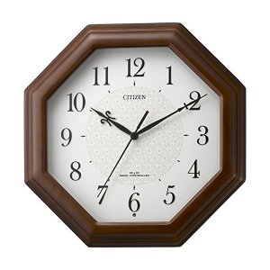 10倍ポイント/シチズン木製電波掛け時計ネムリーナメイト4MYA30006|syohbido-store