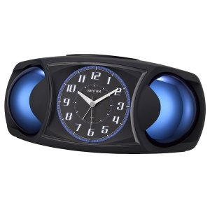 10倍ポイント/RHYTHM リズム  大音量目覚まし時計 バトルMAX X 黒【4RA482SR02】|syohbido-store