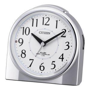 10倍ポイント/シチズン夜光電波目覚まし時計ネムリーナリング4RL432019シルバーメタリック|syohbido-store