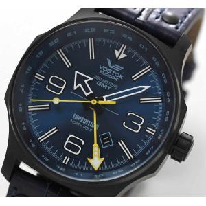 10倍ポイント/ボストーク ヨーロッパ エクスペディション/North Pole 1/GMT LINE/515.24H-595C503メンズ 腕時計[正規輸入品]|syohbido-store