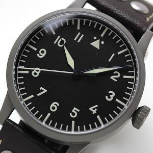 10倍ポイント/ラコ(Laco) オリジナルパイロットウォッチ Laco24系 自動巻き ザールブリュッケン 861752 腕時計[正規輸入品]|syohbido-store