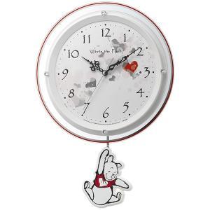 10倍ポイント/リズムディズニーキャラクター電波振り子掛け時計くまのプーさん8MX407MC03|syohbido-store