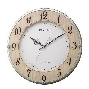 10倍ポイント/RHYTHM リズム  電波掛け時計 ライブリーナチュレ【8MY506SR23】|syohbido-store