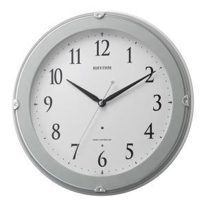 10倍ポイント/リズム夜光電波掛け時計ピュアライトマーロン8MYA23SR04青|syohbido-store