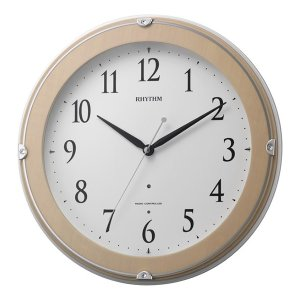 10倍ポイント/リズム夜光電波掛け時計ピュアライトマーロン8MYA23SR13ピンク|syohbido-store