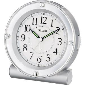 CITIZEN/シチズン全面が点灯するライト付目覚まし時計セリア8REA18シリーズシルバー【8REA18019】|syohbido-store