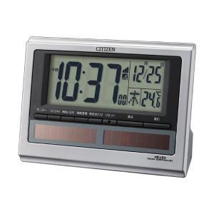 シチズンデジタル電波置き時計パルデジットソーラーR1258RZ125019シルバーメタリック syohbido-store