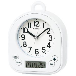 10倍ポイント/セイコー生活防水仕様キッチン&バスクロック掛け置き兼用時計BZ358W白 syohbido-store