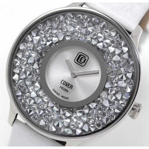 10倍ポイント/あすつく/COVER(コヴァー)TRENDPIEDRACo158.01ホワイト女性用腕時計[正規輸入品] syohbido-store
