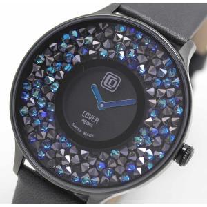 10倍ポイント/あすつく/COVER(コヴァー)TRENDPIEDRACo158.04ブラック女性用腕時計[正規輸入品] syohbido-store