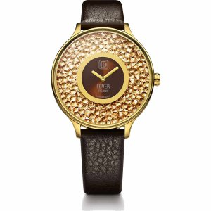 10倍ポイント/COVER(コヴァー)TRENDPIEDRACO158.06ゴールド&ブラウン女性用腕時計[正規輸入品] syohbido-store