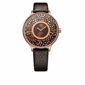 10倍ポイント/COVER(コヴァー)TRENDPIEDRACo158.07ダークブラウン女性用腕時計[正規輸入品] syohbido-store