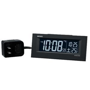 10倍ポイント/SEIKO セイコー 夜でも見える アラーム付 デジタル電波置き時計  DL209K 黒|syohbido-store