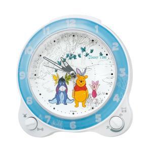 セイコーディズニーキャラクター目覚まし時計くまのプーさんFD462W|syohbido-store