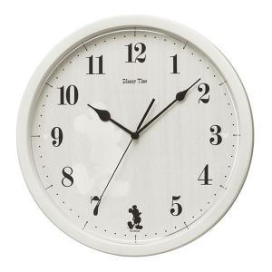 10倍ポイント/セイコーディズニーキャラクター掛け時計ミッキーFW577Aアイボリー|syohbido-store