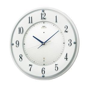 10倍ポイント/セイコー電波掛け時計エムブレムHS543W|syohbido-store