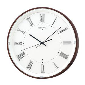 10倍ポイント/SEIKO(セイコー)ナチュラルスタイル 木枠 電波掛け時計  KX206B  濃茶|syohbido-store