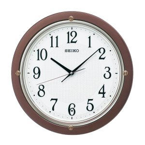 10倍ポイント/SEIKO(セイコー)スタンダード 電波掛け時計  KX217B  茶メタリック|syohbido-store