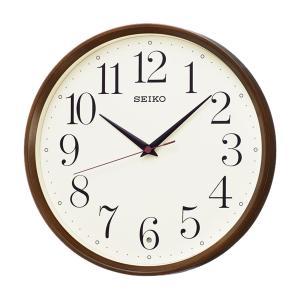 10倍ポイント/SEIKO(セイコー)スタンダード 電波掛け時計  KX222B  濃茶|syohbido-store