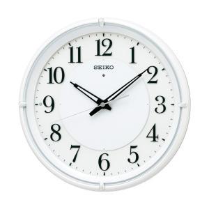 10倍ポイント/SEIKO セイコー 夜でも見える 夜光電波掛け時計 KX233W  白パール|syohbido-store