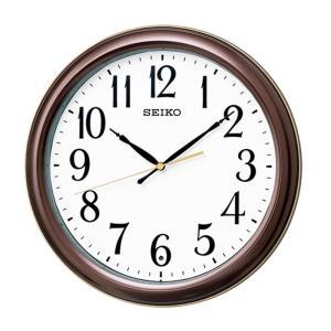 10倍ポイント/SEIKO セイコー スタンダード 電波掛け時計 KX234B  茶メタリック syohbido-store