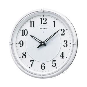 10倍ポイント/セイコー夜光電波掛け時計ファインライトNEOKX393W白パール|syohbido-store