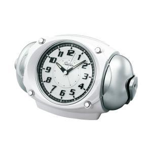 10倍ポイント/セイコー大音量目覚まし時計スーパーライデンNR438W白パール syohbido-store