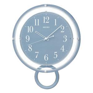 10倍ポイント/SEIKO(セイコー)スタンダード 飾り振り子付 電波掛け時計  PH205L  ブルー|syohbido-store