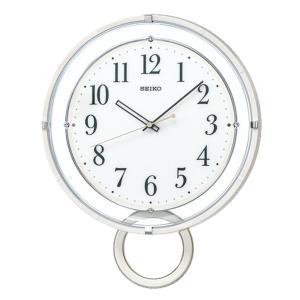 10倍ポイント/SEIKO(セイコー)スタンダード 飾り振り子付 電波掛け時計  PH205W  ホワイト|syohbido-store