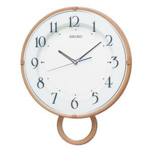 10倍ポイント/SEIKO(セイコー)スタンダード 飾り振り子付 電波掛け時計  PH206A  薄茶|syohbido-store