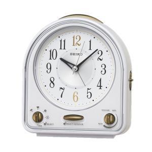 10倍ポイント/SEIKO(セイコー)スタンダード メロディアラーム 目覚まし時計  QM747W  白|syohbido-store