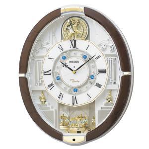 10倍ポイント/SEIKO(セイコー) 電波からくり掛け時計 ウェーブシンフォニー  RE575B  茶|syohbido-store