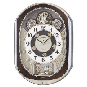 10倍ポイント/SEIKO(セイコー) 電波からくり掛け時計 ウェーブシンフォニー  RE578B  茶|syohbido-store