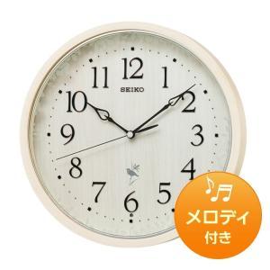 10倍ポイント/SEIKO セイコー 報時付き 木枠 電波掛け時計 RX215A  ナチュラル|syohbido-store